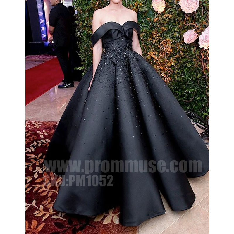 Long Black Prom Ball Dresses Style