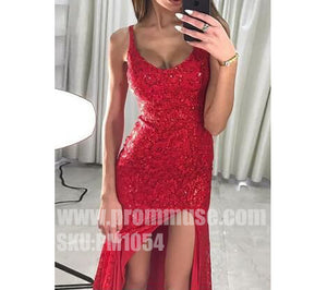 Red Sexy Side Split Popular Cheap Formal Fashion Long Prom Dresses, PM1054