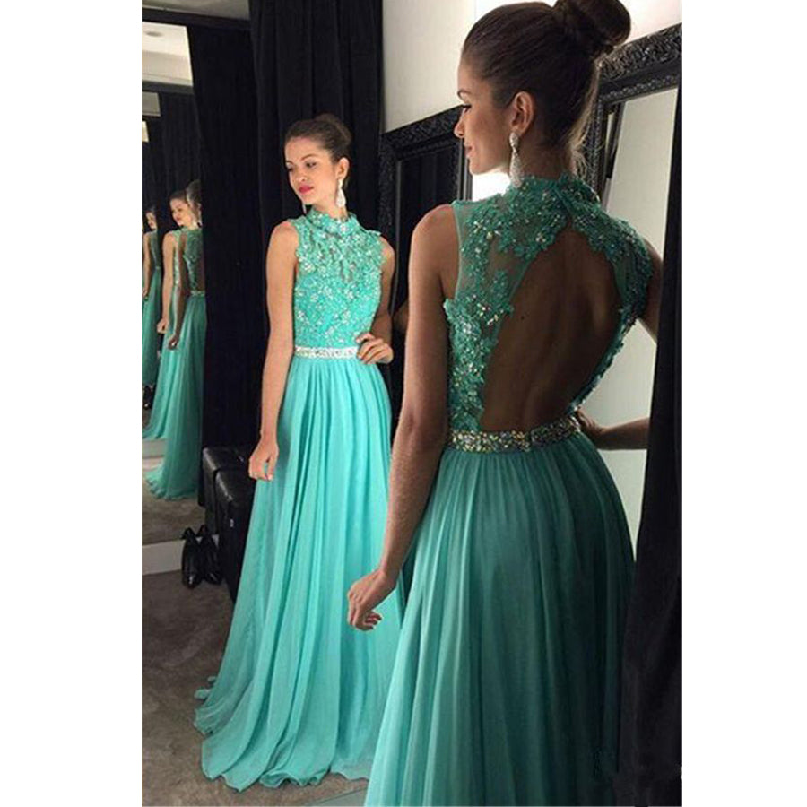 Popular Formal Open Back Cheap Fashion Long Evening Prom Dresses, PM1058