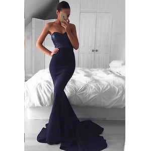 Mermaid Sweetheart Cheap Long Bridesmaid Prom Dresses, PM0188 - Prom Muse