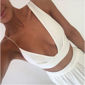 Beach White Two Pieces Split Sexy Long Prom Dresses, PM0200