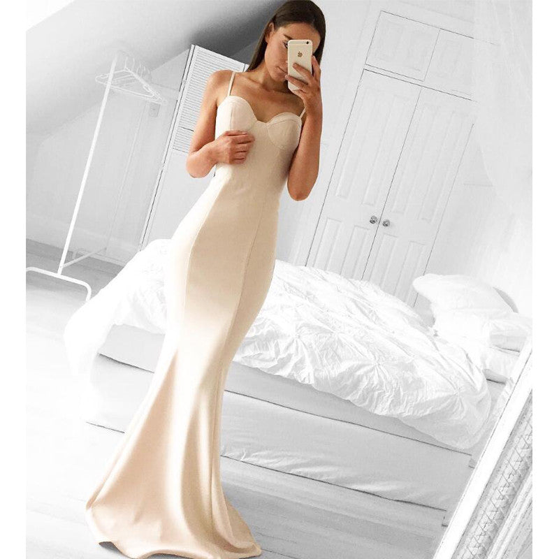 Mermaid Sweetheart Elegant Long Bridesmaid Prom Dresses, PM02080