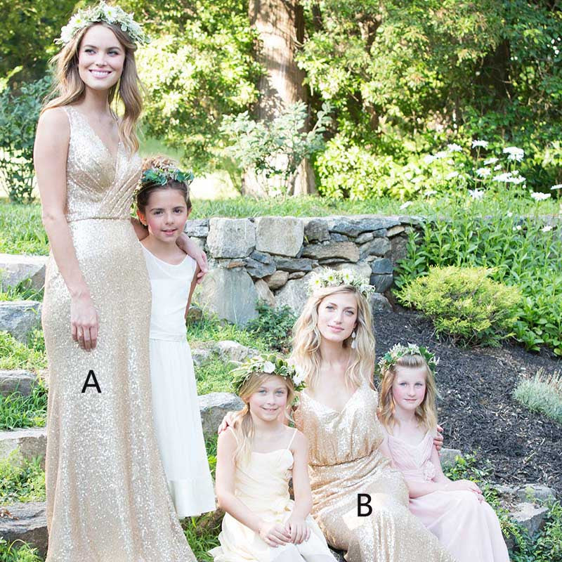 Popular Sequin Mismatched Long Wedding Party Bridesmaid Dresses, PM0208 - Prom Muse