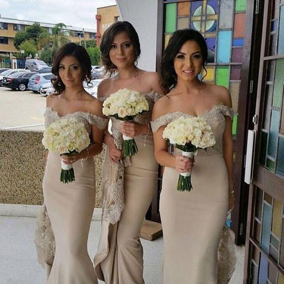 Off the Shoulder Lace Mermaid Sexy Long Bridesmaid Dresses, PM02320 - Prom Muse