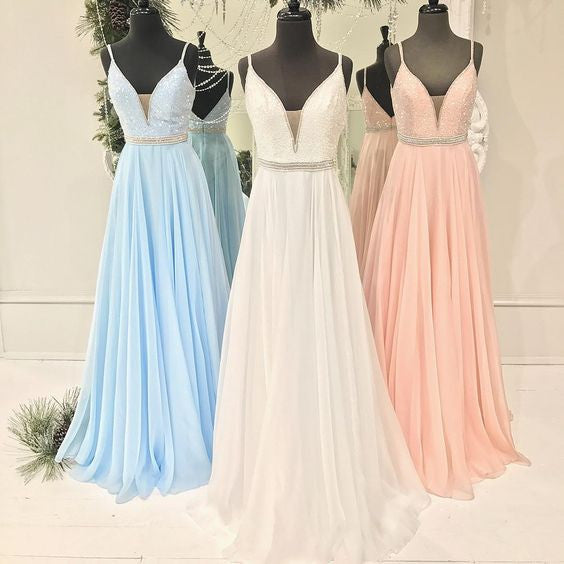 Pretty Formal Cheap Teenagers A Line Long Prom Dresses, PM0256 - Prom Muse