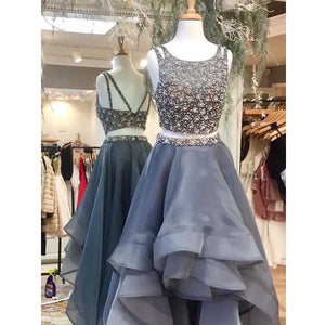 Two Pieces Beaded Top Gorgeous Charming Long Prom Dresses, PM0262