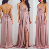 Beach Open Back Side Split Sexy Long Cheap Prom Dresses, PM0267
