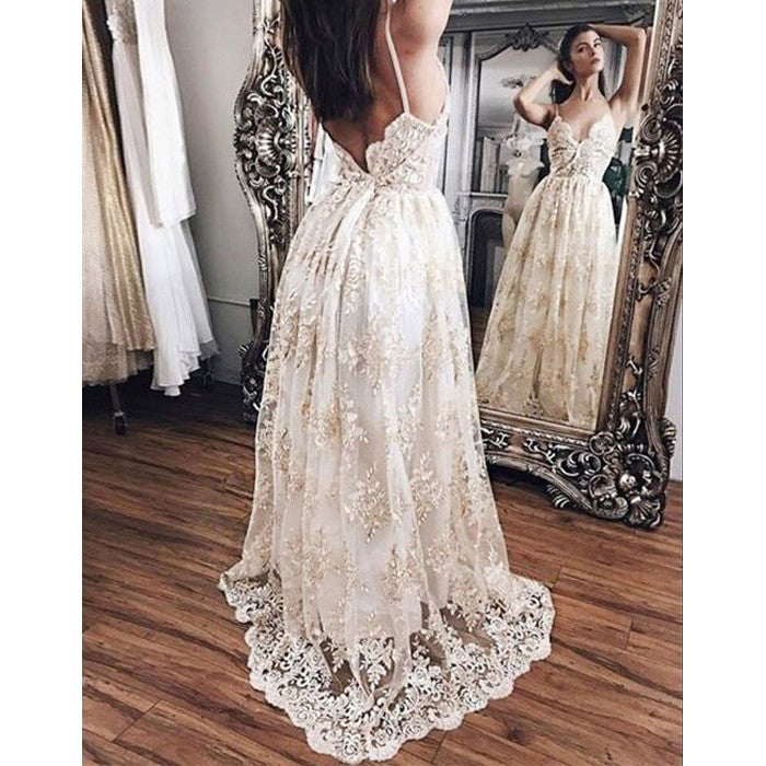 Charming Lace Sexy Best Sale Unique Long Evening Prom Dresses, PM0289 - Prom Muse