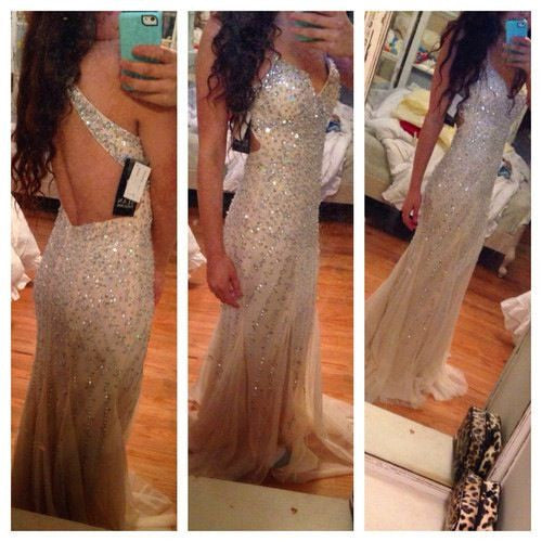 Sweetheart Heavy Beaded Halter Backless Long Prom Dresses, PM0031