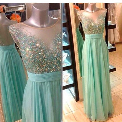 Beaded Top Popular Teenage Pretty Long Prom Dresses, PM0037