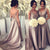 2017 Simple V-Neck Cheap Elegant Long Bridesmaid Wedding Party Dresses, WG397