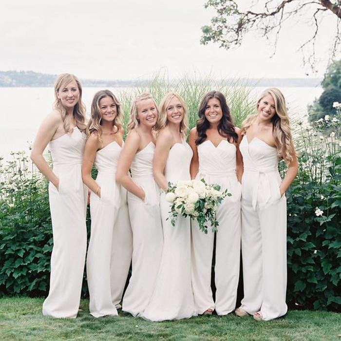 Unique Elegant Cheap Simple Long Bridesmaid Dresses, WG411