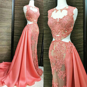 Affordable Sexy Unique Applique Long Prom Dresses, PM0057 - Prom Muse