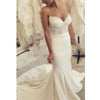 Cheap Spaghetti Strap Mermaid Lace Long Wedding Dresses, PM0622