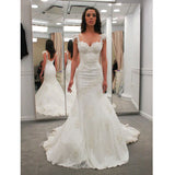 On Sale Mermaid Applique Cheap Long Wedding Dresses, PM0627 - Prom Muse