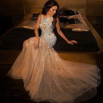 Luxury Beaded Sparkly Mermaid Sexy Long Evening Prom Dresses, PM0769 - Prom Muse