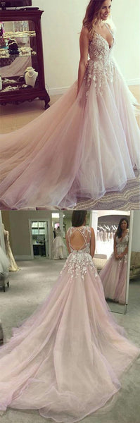 Charming Popular Open Back Pretty Affordable Long Evening Prom Dresses, PM0774 - Prom Muse