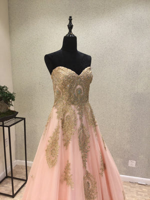 Sweetheart Elegant Evening Party On Sale Long Prom Dresses, PM0781