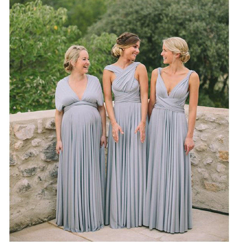 Convertible Formal Long Cheap Wedding Party Bridesmaid Dresses, PM0811