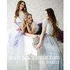 Two Pieces Short Sleeves Lace Tulle Wedding Long Bridesmaid Dresses, PM0827