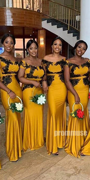 Mermaid Off the Shoulder Long Bridesmaid Dresses DGW27