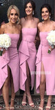 Spaghetti Strap Side Split Bridesmaid Dresses DGW37