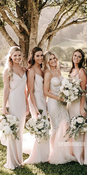 Spaghetti Strap Charming Long Bridesmaid Dresses DGW19