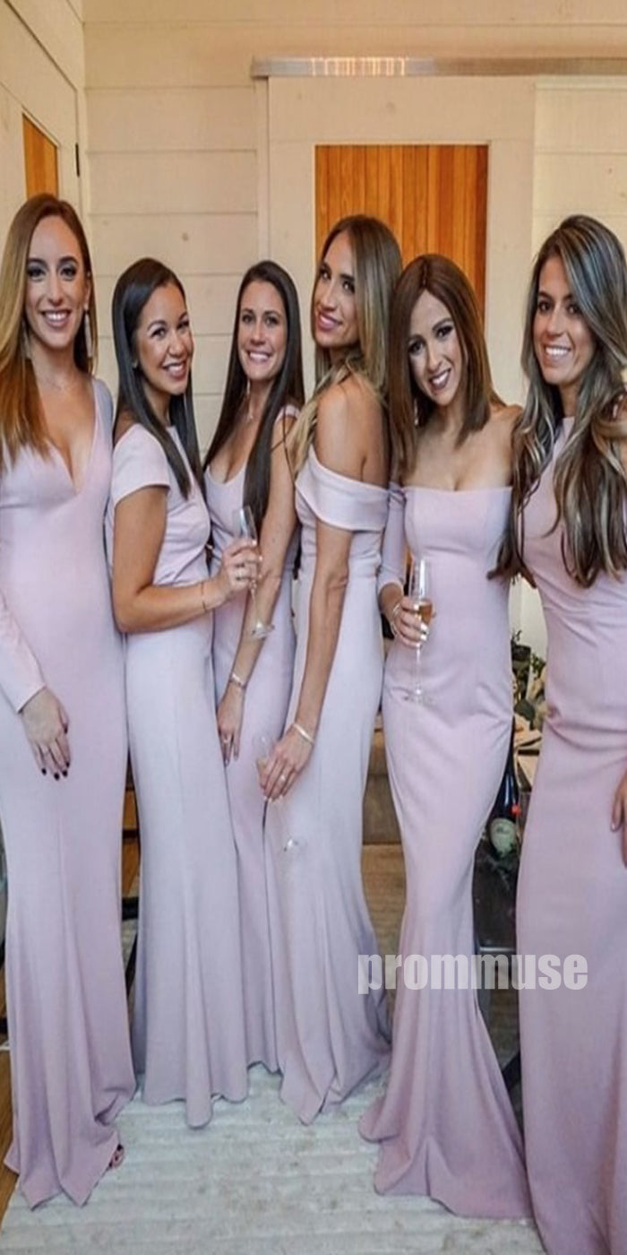 Elegant Mismatched Styles Wedding Party Long Bridesmaid Dresses DGW32