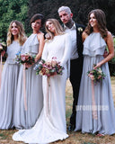 Halter Chiffon A Line Formal Long Bridesmaid Dresses DGW31