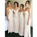 Spaghetti Strap Mermaid Cheap Long Wedding Bridesmaid Dresses, WG358