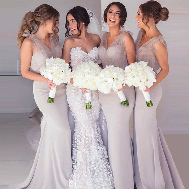 Charming Popular Mermaid Sexy Cheap Long Bridesmaid Dresses, PM0813 - Prom Muse