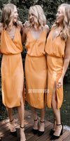 Charming Side Slit Popular Wedding Party Bridesmaid Dresses DGW14