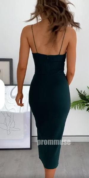 Sexy Black Spaghetti Strap Cheap Short Homecoming Dresses, HCD001
