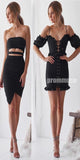 Lovely Black Affordable Short Homecoming Dresses ADW1104