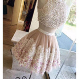 Cute 2 Pieces Lovely Short Graduation Homecoming Dresses, PM0411 - Prom Muse