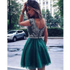 Pretty Beaded Top Green Cute Cheap Short Homecoming Dresses, LD139 - Prom Muse