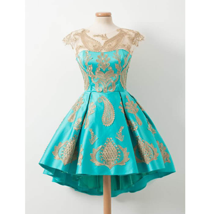Cap Sleeves Applique Lovely On Sale Short Homecoming Dresses, PM0423 - Prom Muse