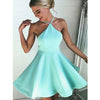 Halter Satin Junior Simple Cheap Short Homecoming Dresses, LD132 - Prom Muse