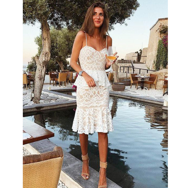 Spaghetti Strap Lace Sweetheart Charming Short Homecoming Dresses, LD133