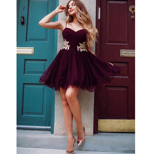 Popular Spaghetti Strap Sweetheart Cheap Short Homecoming Dresses, LD105 - Prom Muse
