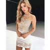 Halter Charming Applique Inexpensive Short Homecoming Dresses, LD126 - Prom Muse