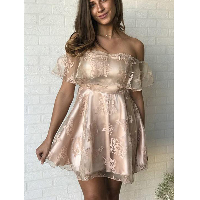 Charming Off the Shoulder Lovely Cheap Short Homecoming Dresses, LD127 - Prom Muse
