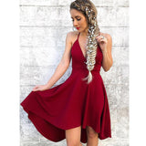 Burgundy Simple Popular Cheap Short Homecoming Dresses, LD136 - Prom Muse