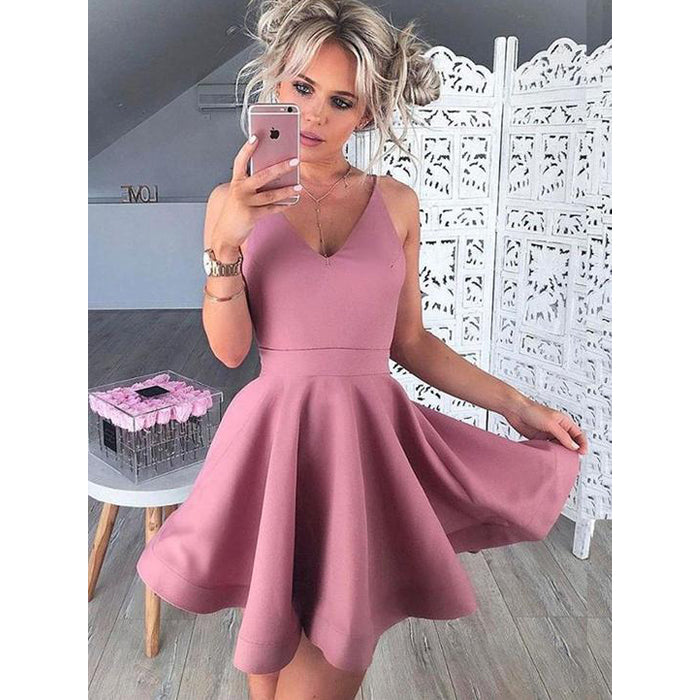 Simple Cheap Popular School Graduation Short Homecoming Dresses, LD142