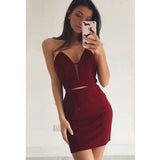 Sexy Cheap Sweetheart Simple Popular Short Homecoming Dresses, LD125