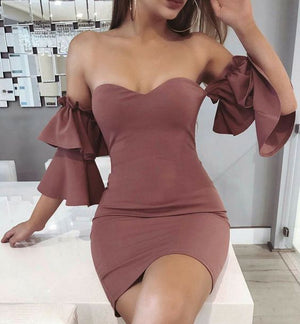 Popular Sweetheart Off the Shoulder Cheap Short Homecoming Dresses, LD124 - Prom Muse