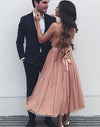 Popular Online Simple Cheap Open Back Short Homecoming Dresses, LD120 - Prom Muse
