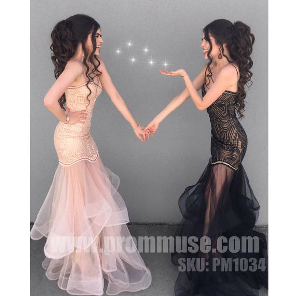 Charming Mermaid Spaghetti Strap Sweetheart Long Prom Dresses, PM1034 - Prom Muse