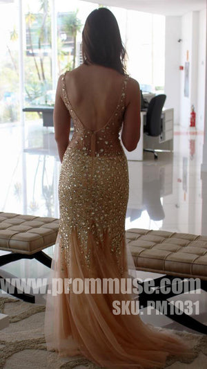 Heavy Beaded Gorgeous Sparkly Mermaid Evening Long Prom Dresses, PM1031 - Prom Muse