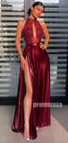 A-line Side Split Affordable Long Prom Dresses SPE186